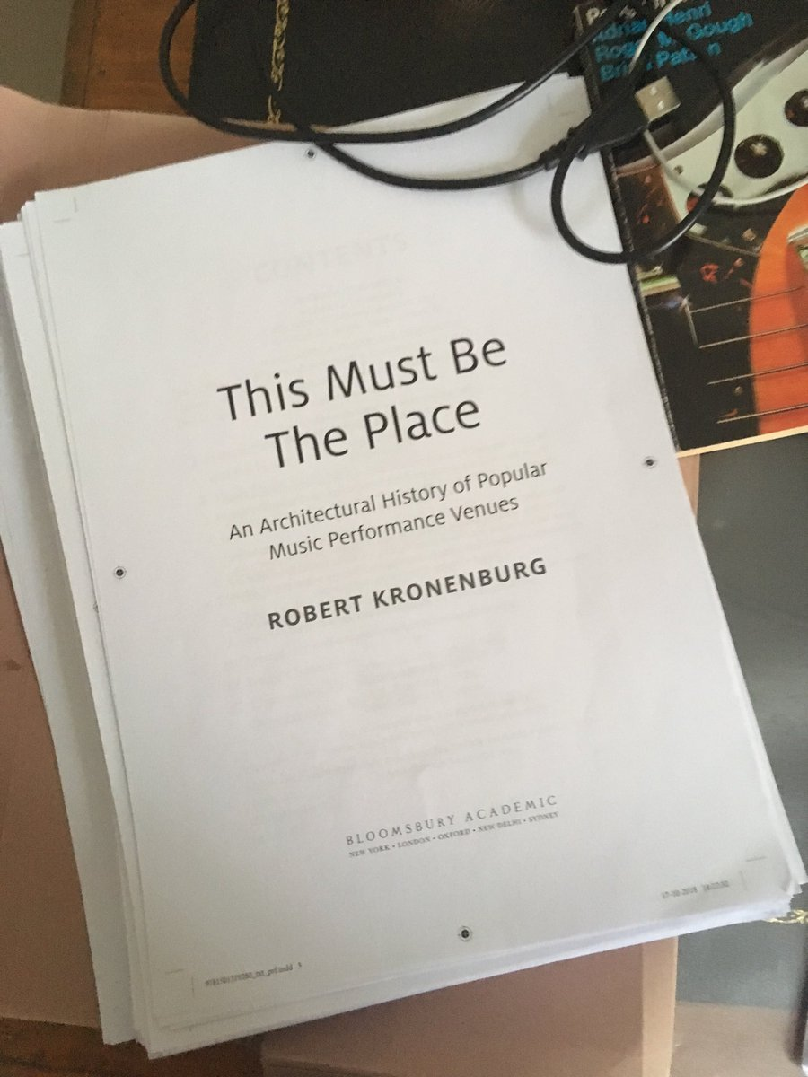 Robert Kronenburg Robkronenburg Twitter Electrical Wiring Book Amazon Music Venues Architectural History All Done And Off To The Printer Https Amazoncouk This Must Place Performance Dp 1501319280