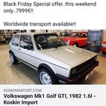 Image for the Tweet beginning: Black Friday offer! MK1 Golf GTi..this