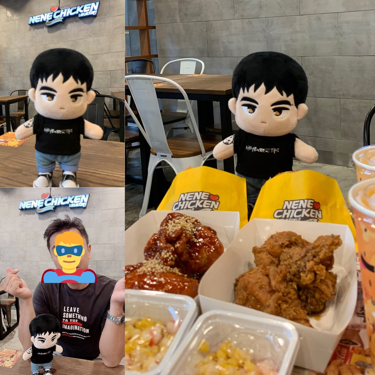 TGIF Lunch date @nenechicken_sg requested by a half-converted ㄴㅇㅅㅌ aka my realnamja with realbaekho in tow! #BAEKHO #강동호 #백호 #NUEST_W #뉴이스트W #NUEST #뉴이스트 Not trying to be bias but NeNe is my current fave fried chicken 😆 https://t.co/X3gzj5SRii