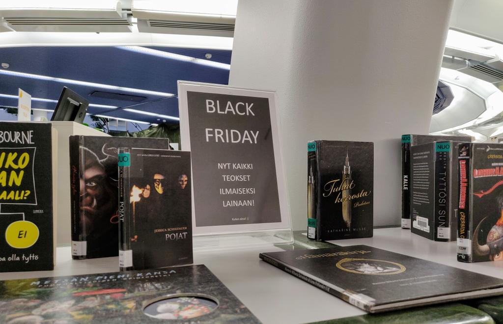 In your face, Black Friday! #BlackFriday @trekirjasto #detournement