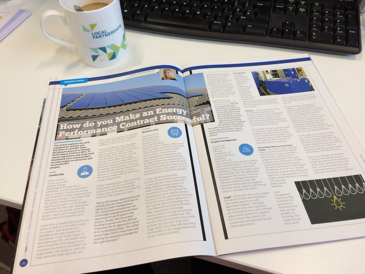 Catching up with a cuppa after a full two days & loads of great conversations @EMEXLONDON. If you didn't get chance to catch us, you can find Rachel Toresen-Owour's Energy Performance Contracts article in the show guide #energyperformance #EPC link here: https://t.co/Rhx2oZachY