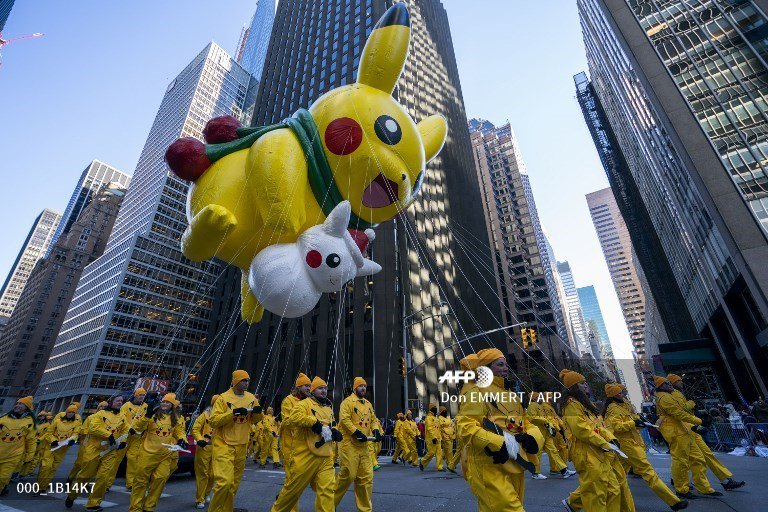 🇺🇸 the 92nd Annual Macy's Thanksgiving Day Parade in New York.  #MacysParade #HappyThanksgiving  📸 Don EMMERT #AFP