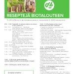 Image for the Tweet beginning: Koko päivä biotaloutta ensi viikon
