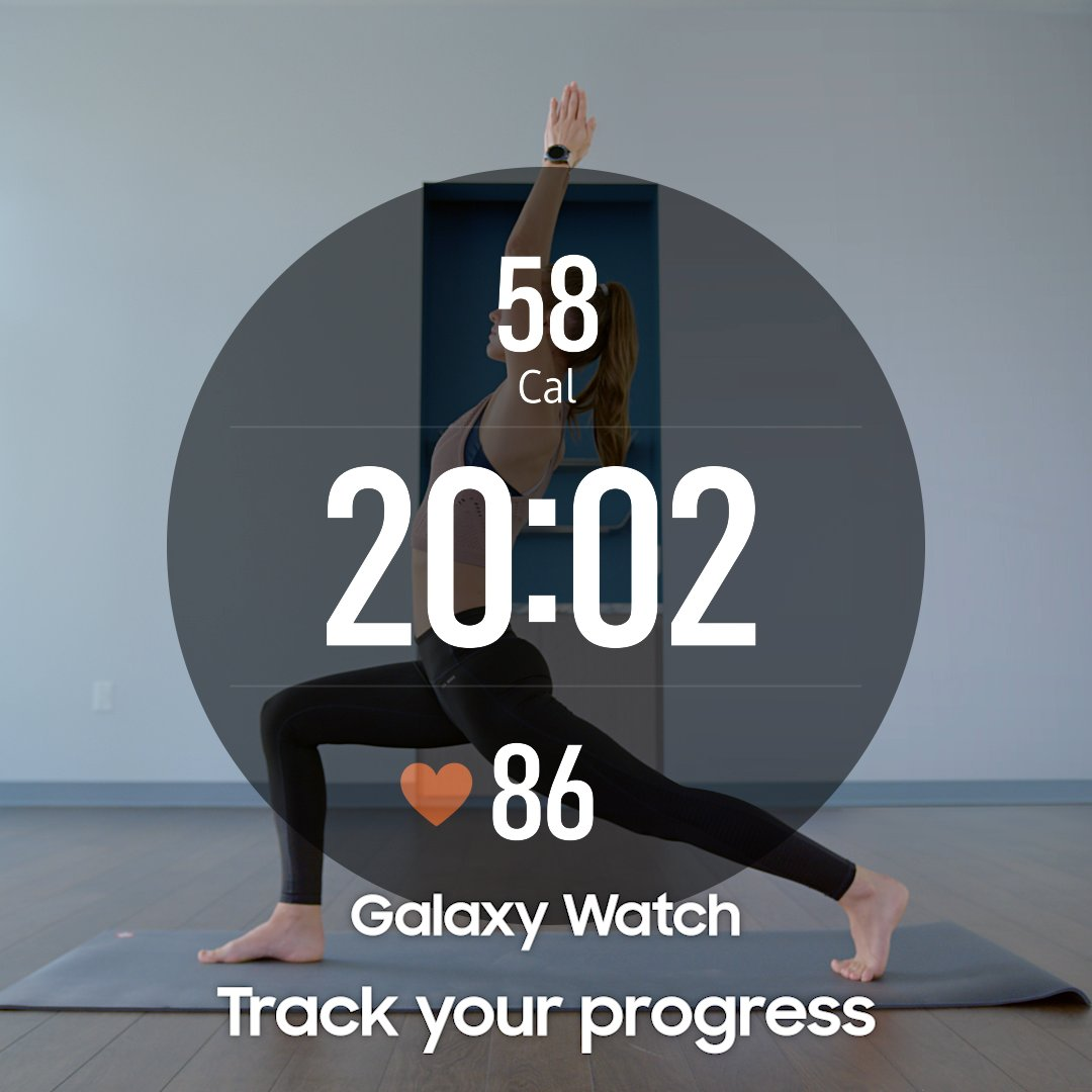 Track your fitness at the flick of a wrist. #GalaxyWatch Learn more: http://smsng.co/GalaxyWatch_ift