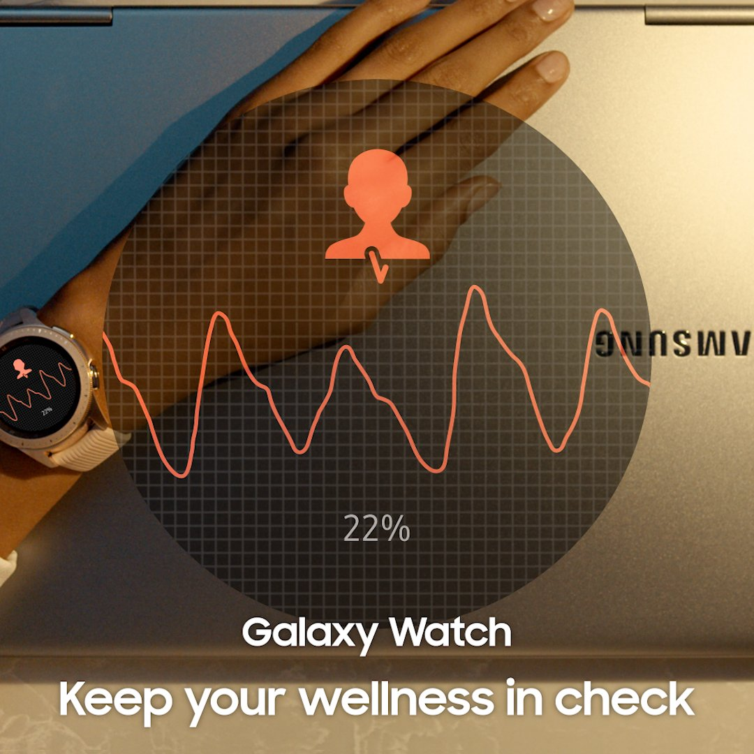 Stay on top of your wellness without missing a beat. #GalaxyWatch Learn more: http://smsng.co/GalaxyWatch_ift