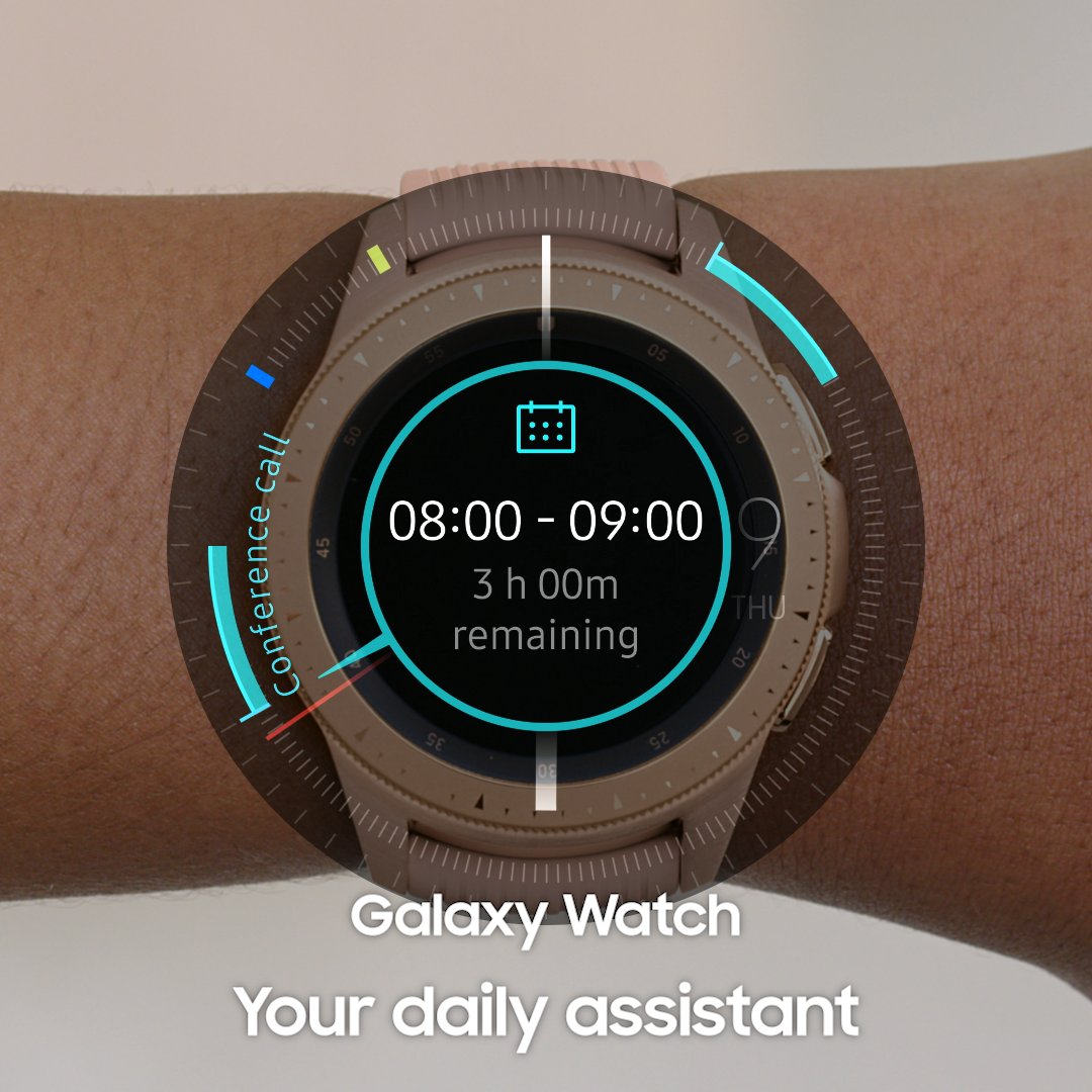 See your day at a glance. #GalaxyWatch Learn more: http://smsng.co/GalaxyWatch_ift