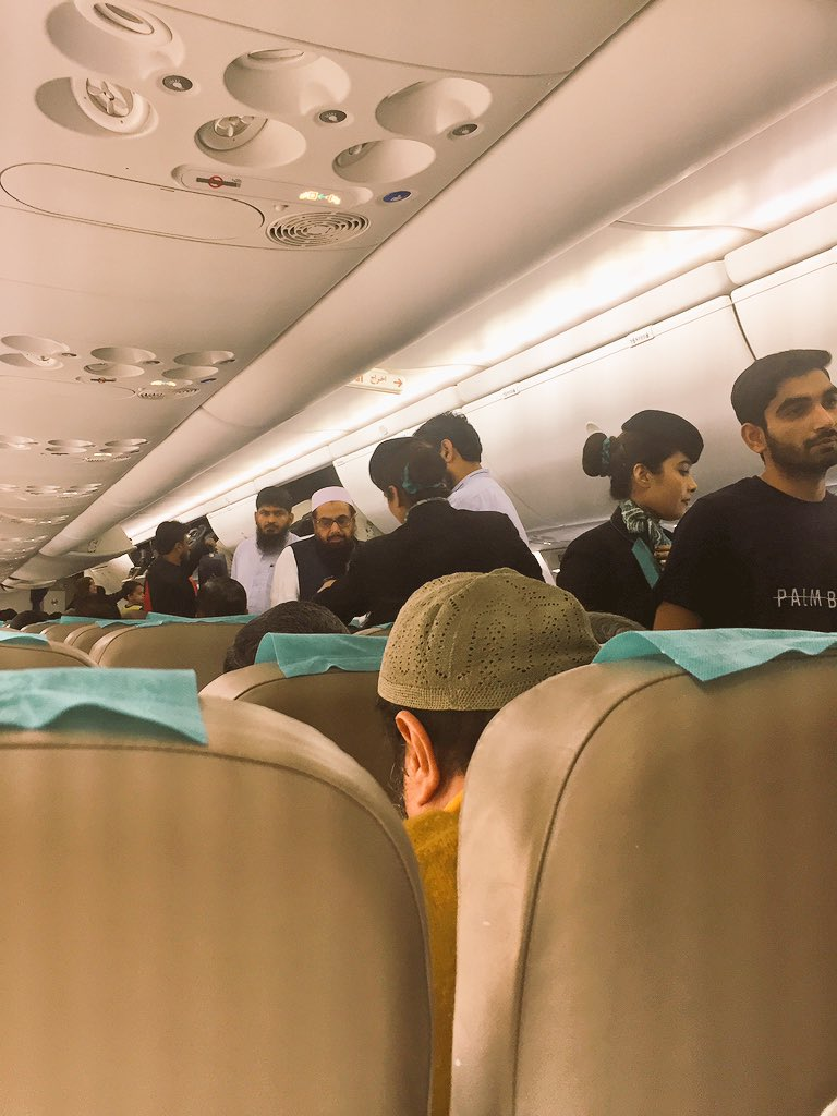 Spotted on my flight from Lahore to Karachi: JuD leader Hafiz Saeed (or a strikingly similar body double)