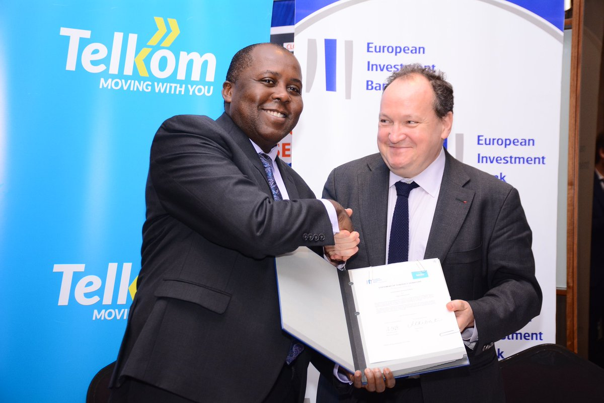 The European Investment Bank has signed a loan agreement worth $40 million with Telkom, in Nairobi, today. In view of the growing demand for telecommunication services, Telkom will invest heavily in its 3G and 4G coverage throughout Kenya.
