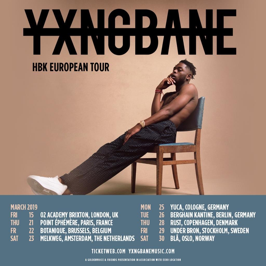 Image result for yxng bane tour