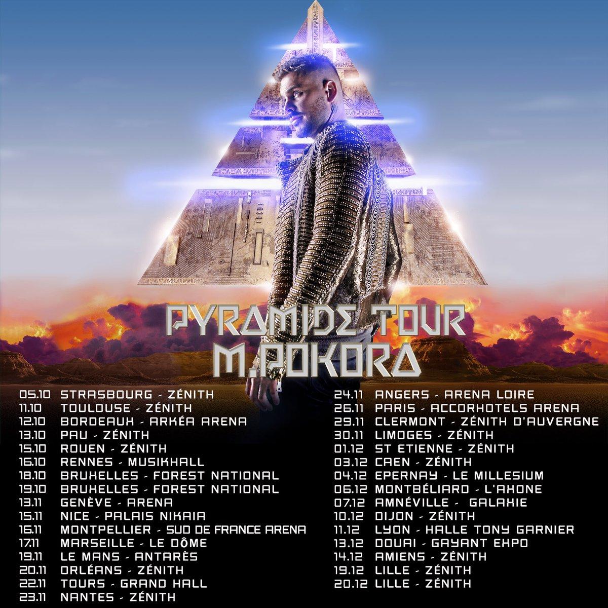 Et voici les premières dates du #PyramideTour 2019 ! RDV le 29 novembre à 10h pour l'ouverture de la billetterie!