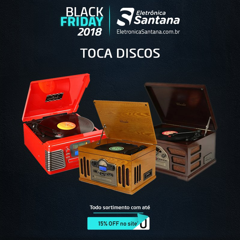 Toca Discos com até 15% de desconto e a partir de R$30.....ops!!!  Confira nossas promoções da #BlackFridayBrasil em https://t.co/3cuXJwHdpJ https://t.co/SufjL5kCap