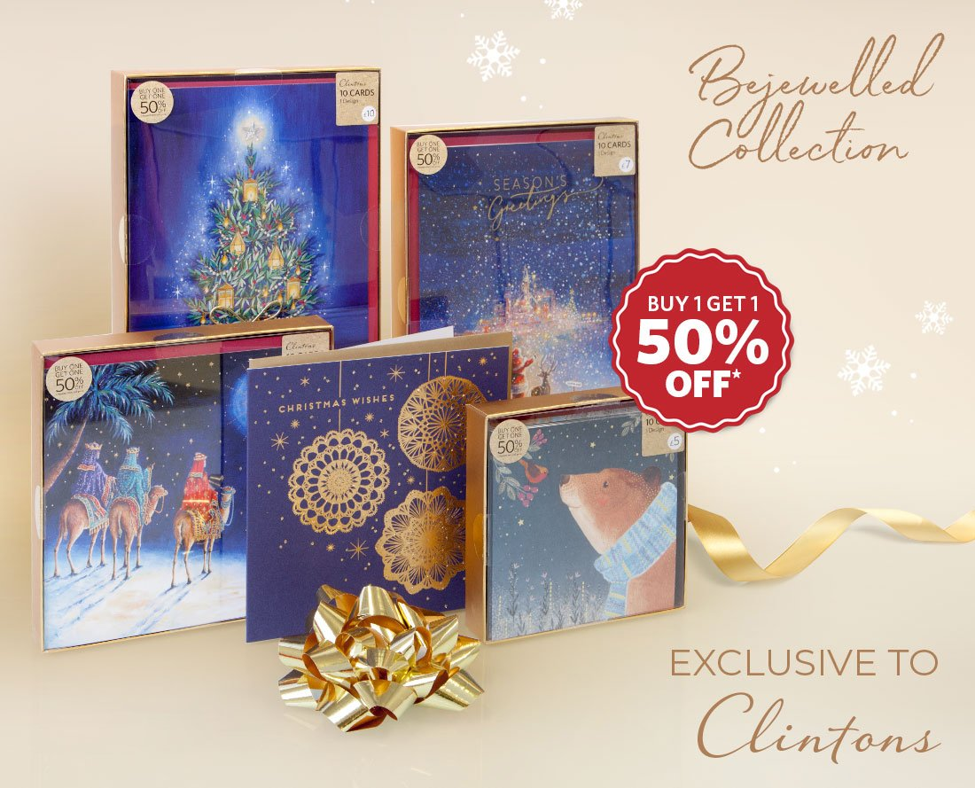 Beautiful boxed cards available in store and online http://www.clintonsretail.com Buy 1 Get 1 50% off Applies to Cheapest item # christmascards #christmas ...