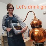 Image for the Tweet beginning: Productive day at the distillery!! #bramblegin