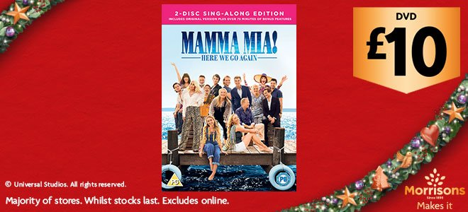 Morrisons On Twitter Here We Go Again Mamma Mia 2 Is Available