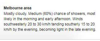 The forecast for #VictoriaVotes is mostly cloudy and a top of 16C for #Melbourne