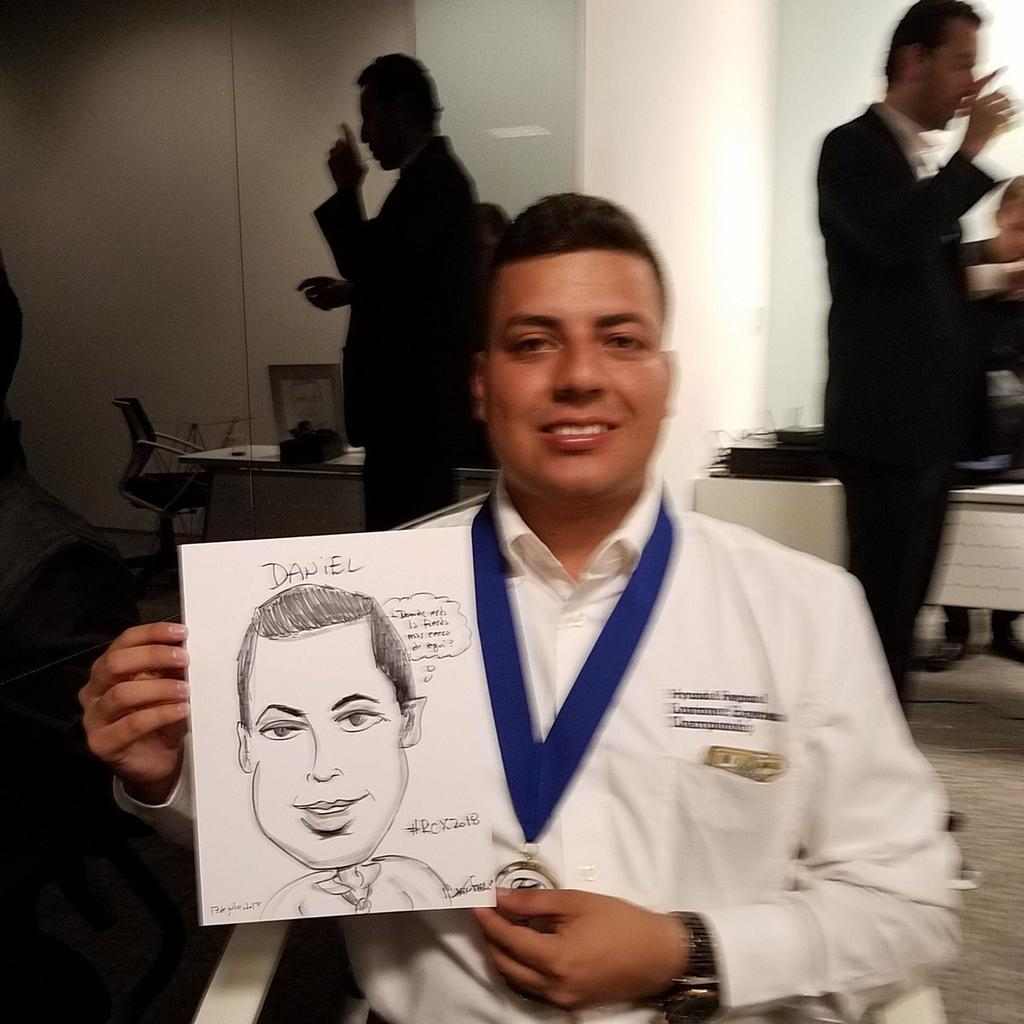 Hyundai Caribbean And Latinamerica Dealerships Awardsdinner At Regional Headquarters In D Near Miami Florida Included Caricature Entertainment