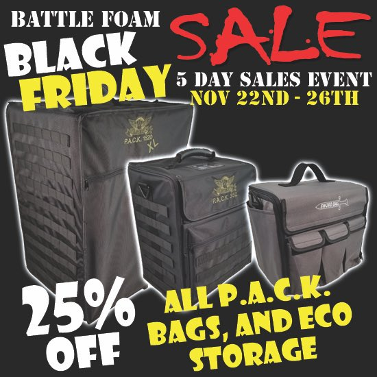 Battle Foam On Twitter Day 2 Of Battlefoam Blackfriday Orders Are Streaming In Due To The Great Savings To Be Had Visit Https T Co Cu3mpmkg2v To Get Your Limited Edition Bag Or Anything See more ideas about warhammer, warhammer 40k, warhammer 40000. twitter