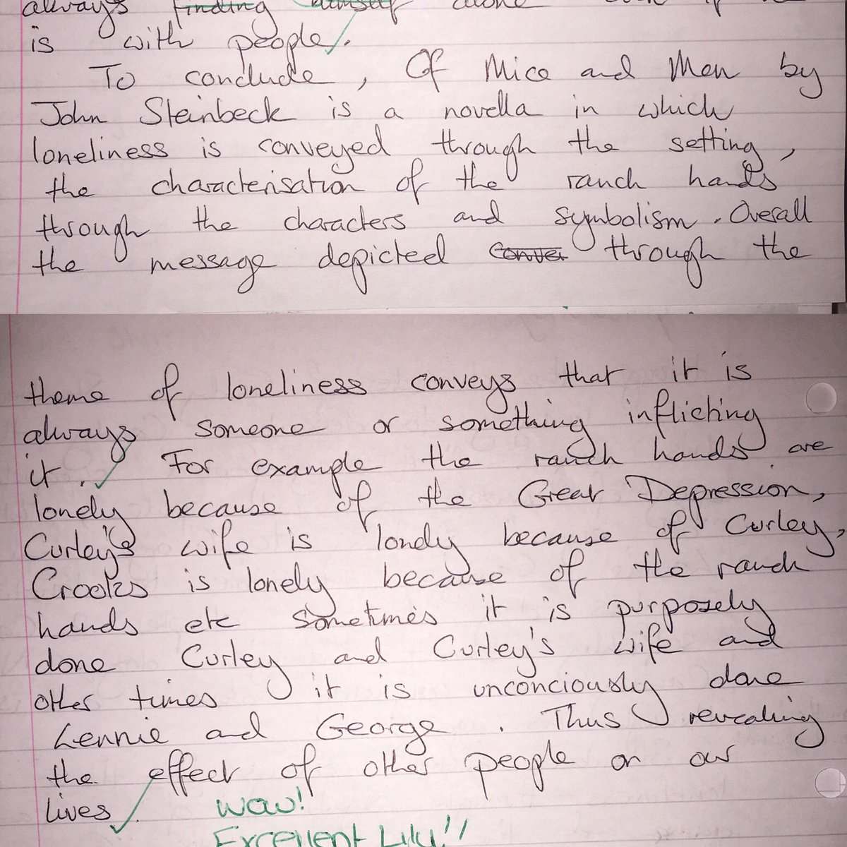 Self Identity Essay This Pupil Has Blown Me Away With Her Timed Essay On Of Mice And Men   She Has Shown Great Insight And Produced A Fantastic Conclusion  Ofmiceandmen  Gandhi Essay also Essay Rater Miss Cooper On Twitter Wow This Pupil Has Blown Me Away With Her  Sample Of Self Introduction Essay