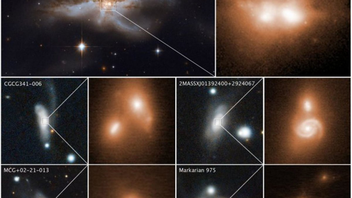 More #BlackHoleFriday fun - whats better than one black hole? Merging black holes, revealed by @NASAHubble and @keckobservatory imaging of Swift BAT galaxies. With our all-sky high-energy X-ray survey, BAT can penetrate dust/gas to pinpoint the final stages of galaxy mergers.