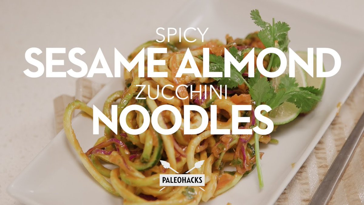 https://t.co/ZCLVQnzmwq - Spicy Sesame Almond Zucchini Noodles | Paleo Recipe https://t.co/8s4YOcyhnB