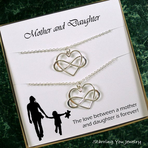 Mother #daughter necklace set,  #etsymntt #epiconetsy #etsychaching #shoppershour #gifts #jewelryforsale #jewelrystore