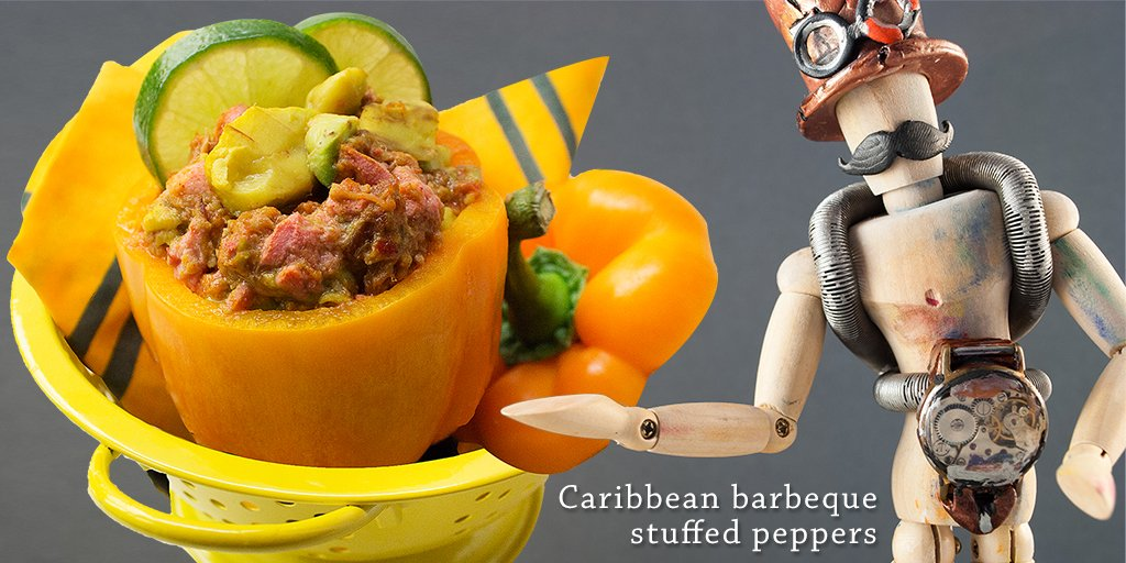 #papaya #recipes #recipe May I present, Caribbean bbq stuffed peppers with SlimCado avocado. https://t.co/UkolrqWgJG https://t.co/5isMLxaOjB