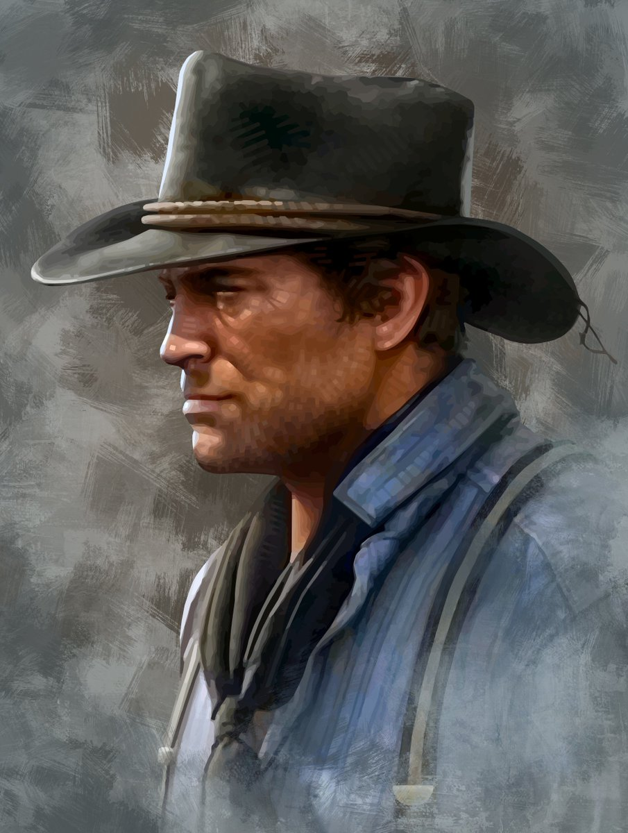 "#RDR2 #fanart: ""Portrait of Arthur Morgan"" – by talented illustrator Brian Taylor aka @CandykillerNews"