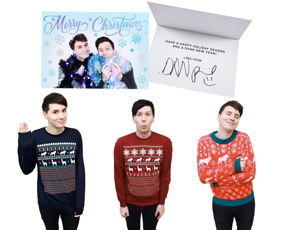 Dan And Phil Christmas Sweater.Irl Merch On Twitter Each Christmas Sweater Includes An