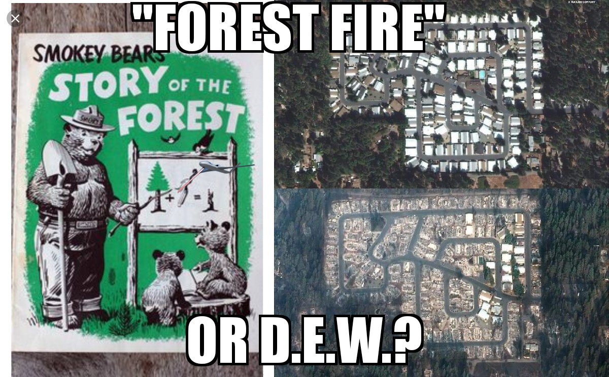 RT @erictowle: Is #CaliforniaFires a result of #forestfires or #directEnergyWeapons? https://t.co/kysBZj4PFY