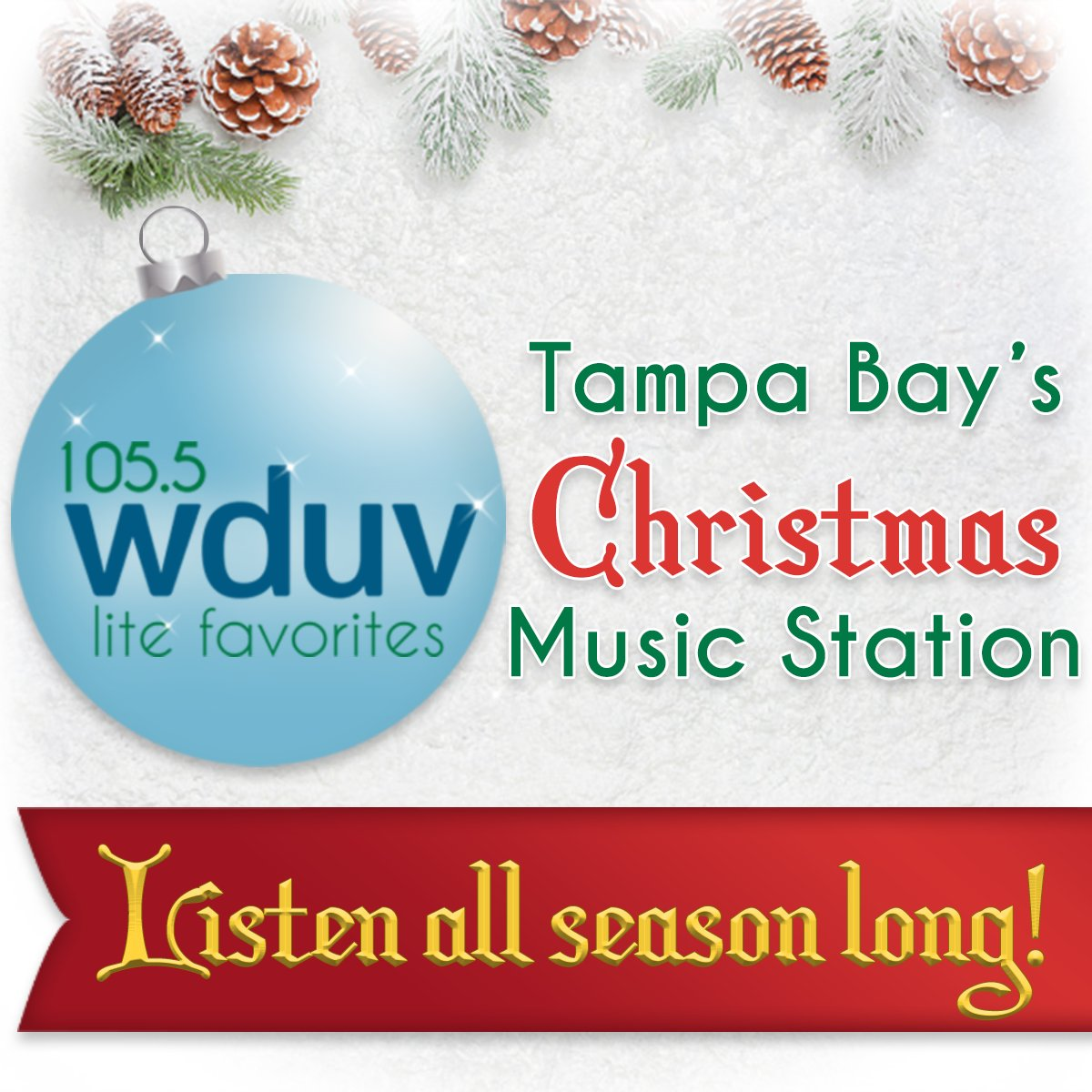 Stream Christmas Music.105 5 Wduv On Twitter Tampa Bay S Christmas Music Station