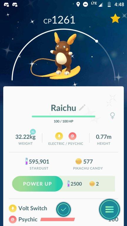 Raichu weight