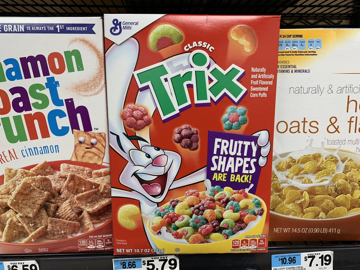 jeff d lowe on twitter hold the phone trix cereal is back to