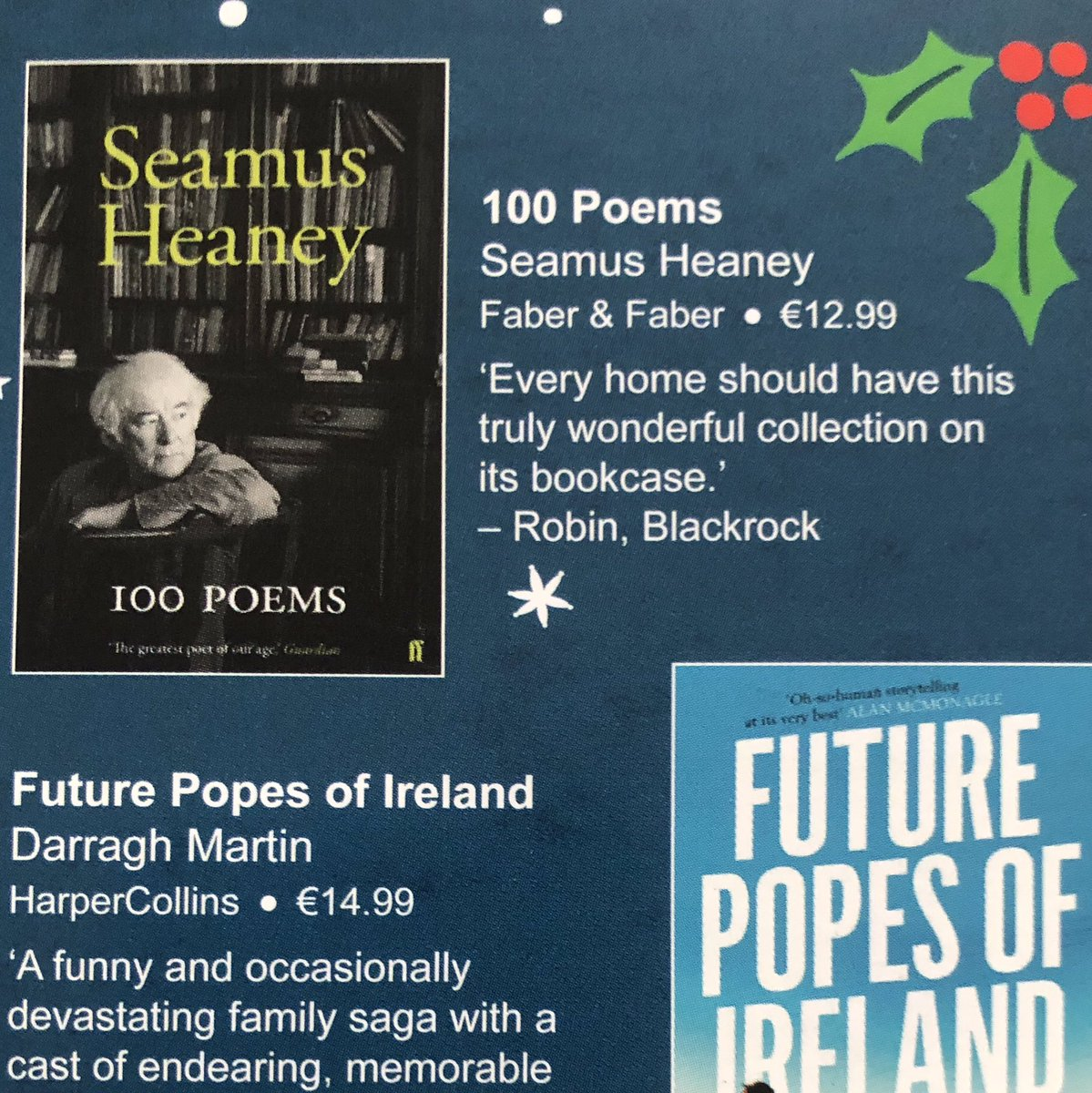 Lovely recommendation for #SeamusHeaney100poems from @DubrayBooks today!