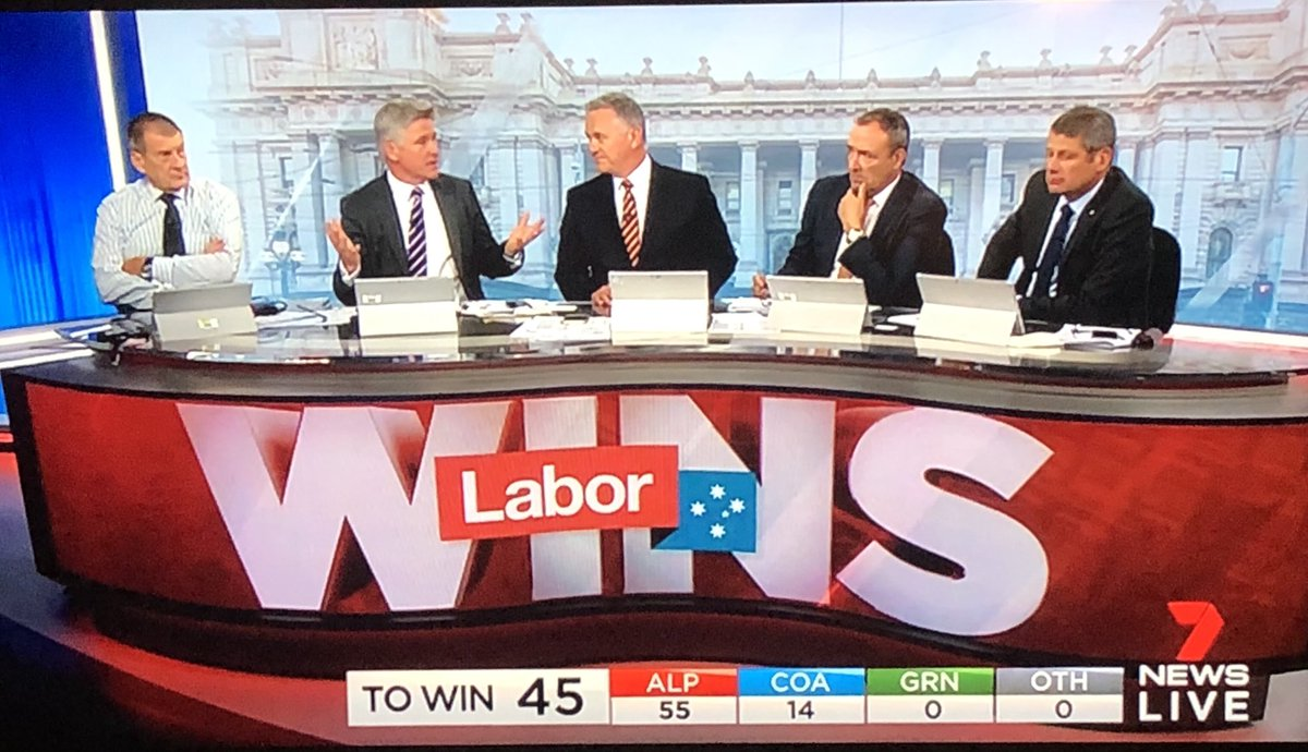 Flicked over to Seven's #vicvotes coverage. What a diverse panel. #victoriavotes