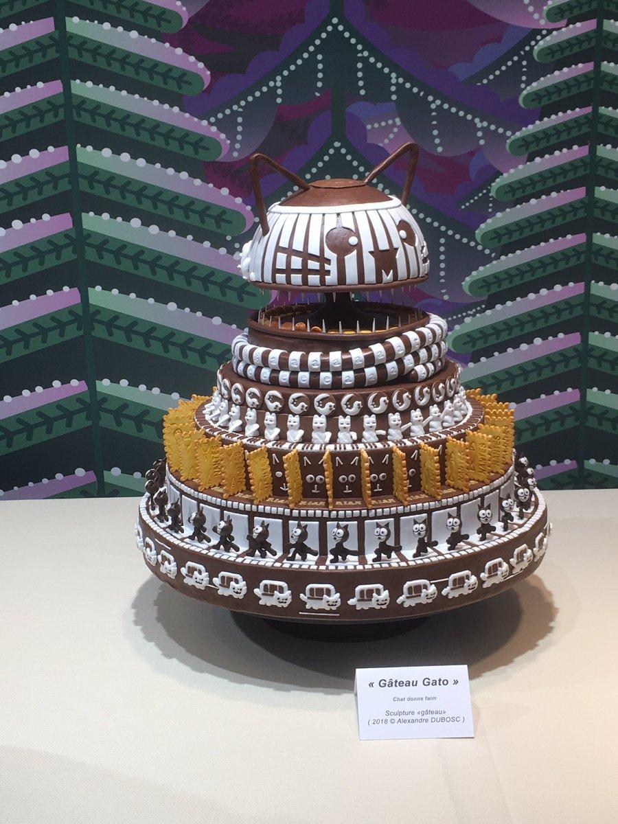 Les jolis gâteaux rigolos d' @AlexandreDUBOSC à découvrir des yeux 😋 aux @Galeries_Laf #Nantes jusqu'au 03/01 #ptitplaisirnantais https://t.co/yES5R7dzyB