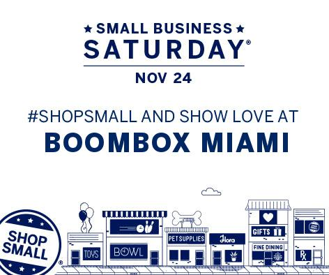 Today, stop by for a cocktail or two all in the name of #SupportingLocal for #SmallBusinessSaturday. #BOOMBOXMiami #ShopLocal #SHOPSMALL https://t.co/oya2297xnT