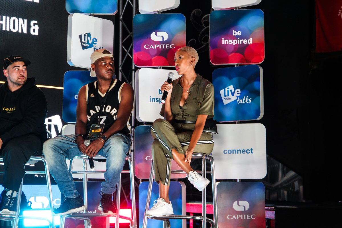 """""""Building a relationship with a brand and working with that brand over and over again is important."""" - @TwiggyMoli  Powered by @CapitecBankSA  #livebettertalks #CapsuleFest #CelebrateCulture"""