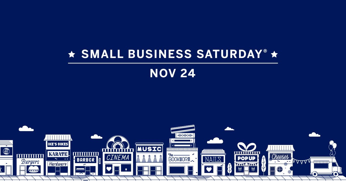 Today is Small Business Saturday! Shopping local helps your community thrive. We're so grateful to be a part of such a wonderful community!