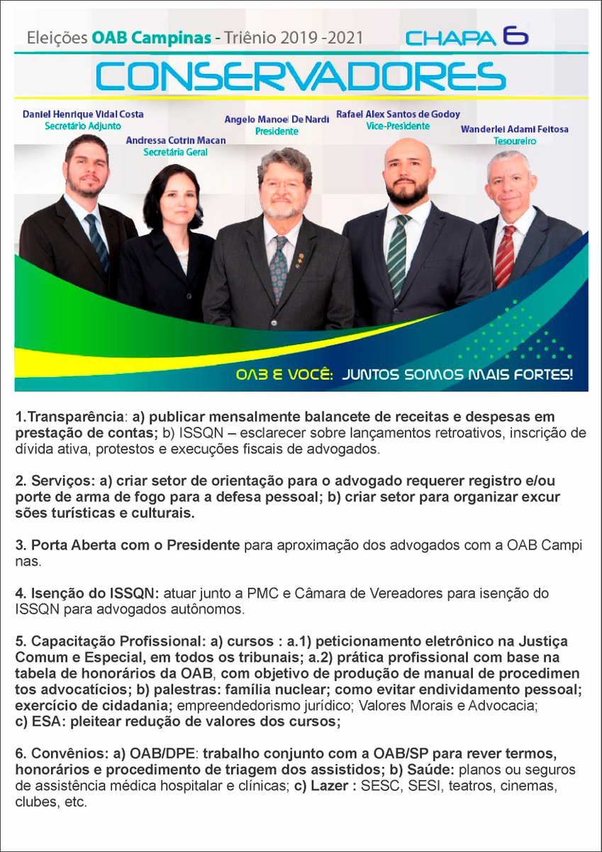57330879e82e3 Chapa6 Conservadores OAB Campinas 2019 a 2021 ( chapa6 a)   Twitter
