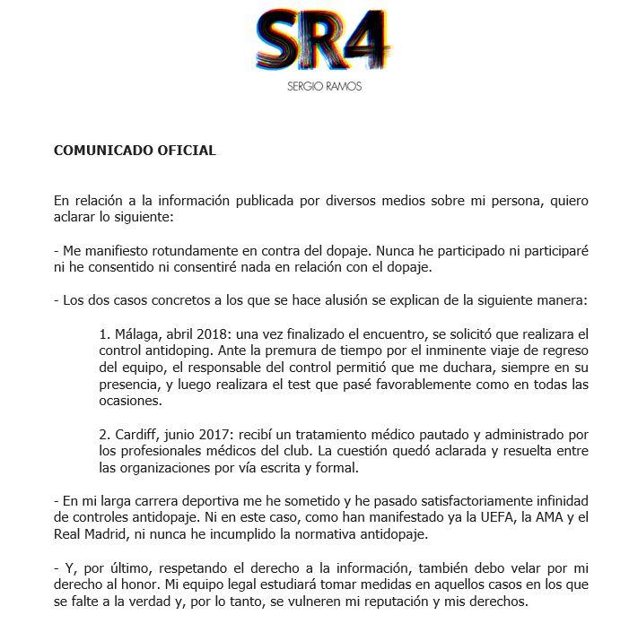 Comunicado oficial | Official Announcement
