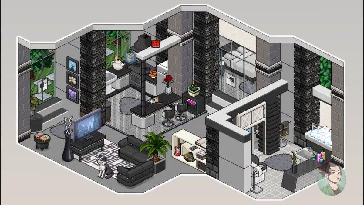 Interrogado interrogadohb twitter for Casa moderna habbo
