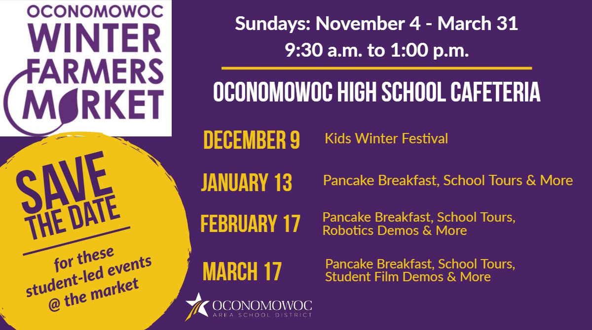 Oconomowoc Schools On Twitter Come To The Winter Farmers Market On