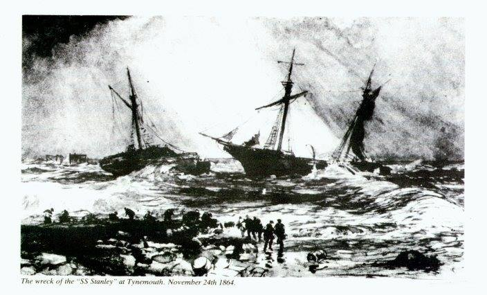 Tonight marks the 154th anniversary of the shipwrecks of Stanley and Friendship on the Black Middens. Over the next 12 hours a total of 34 lives were lost, including 2 lifeboatmen from @tynemouthRNLI. However, this disaster led to the TVLB being formed 11 days later.