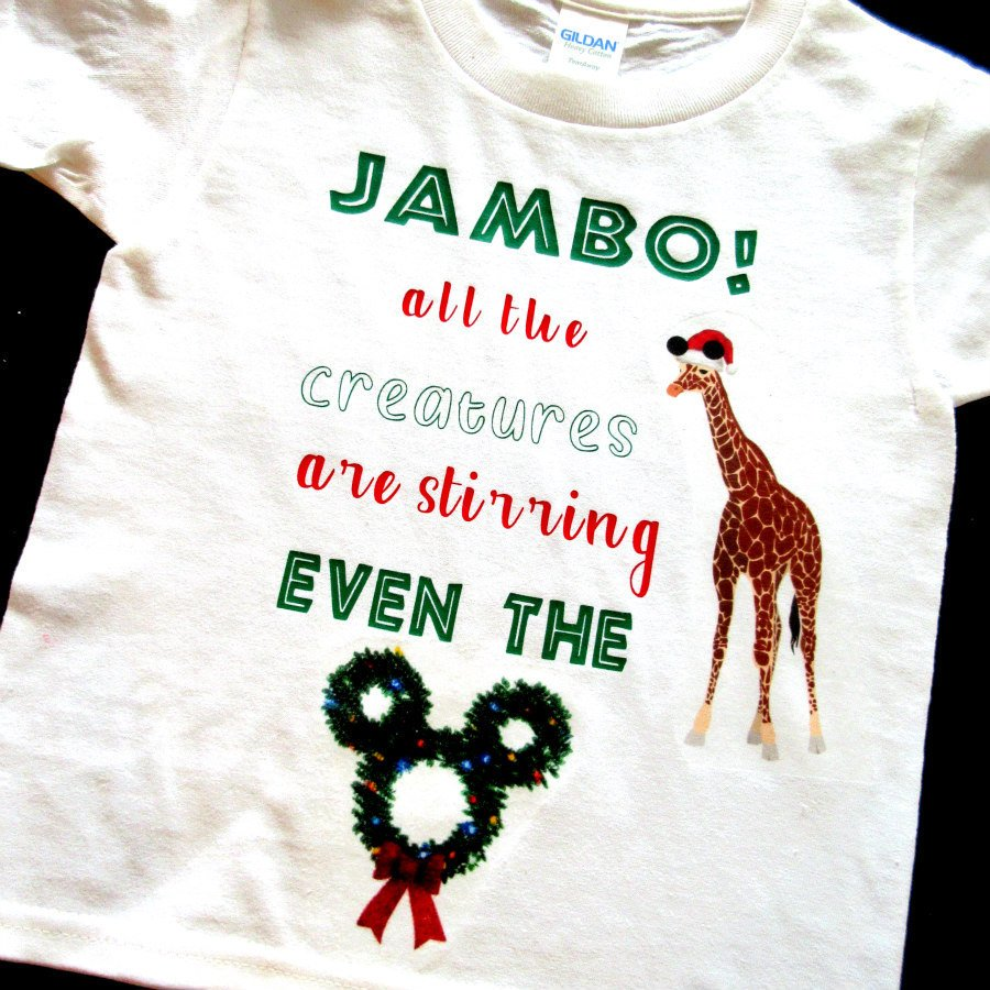 Animal Kingdom Christmas Shirt.My Childs Boutique On Twitter Jambo All The Creatures Are