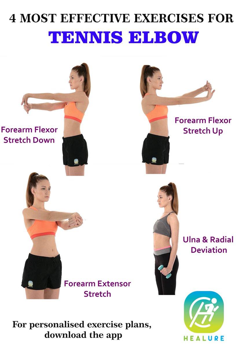 Healure On Twitter Tennis Elbow Exercises Tenniselbow Exercise