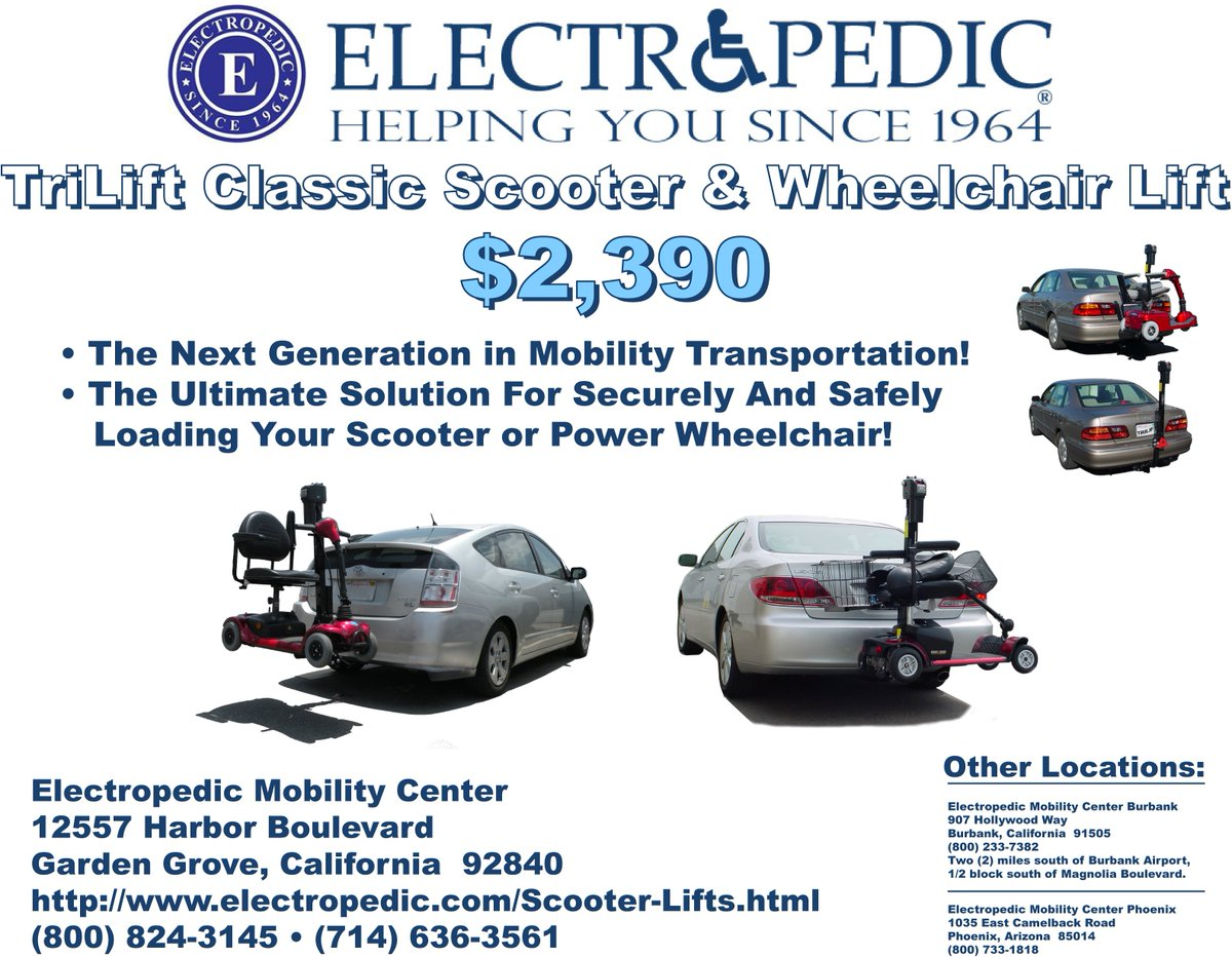 Buena Park Image result for electropedic scooter lifts