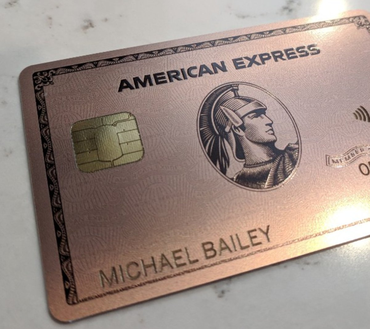"Michael Bailey on Twitter: ""Got my new Rose Gold Amex!… """