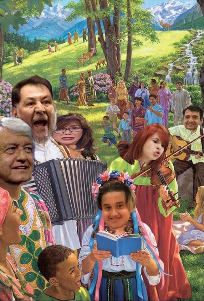 ¡Uy que nervios! Ya faltan ocho días para que México se convierta el el paraíso que @lopezobrador_ prometió a los amlovers. 😱👏🏼👏🏼👏🏼🙏🏼❤️