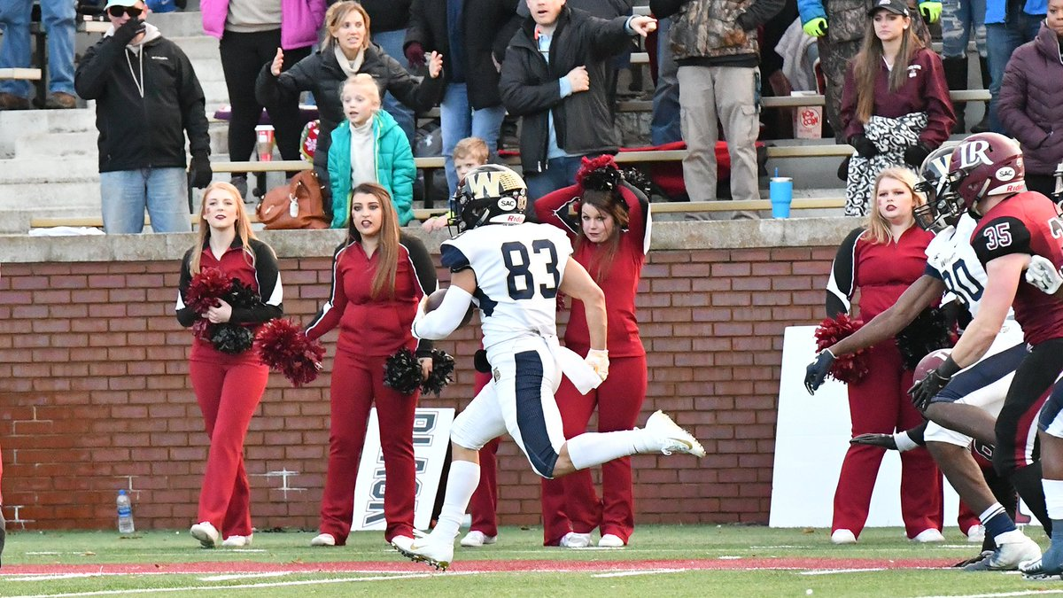 .@WingateFootball dropped a 21-17 heartbreaker in the final minute at #17 Lenoir-Rhyne Saturday in the region semifinals. #WUFB ends its year by winning 7 of its last 8 for a 2nd straight 9-win season   RECAP   http://bit.ly/WUFBRecapAtLR #OneDog