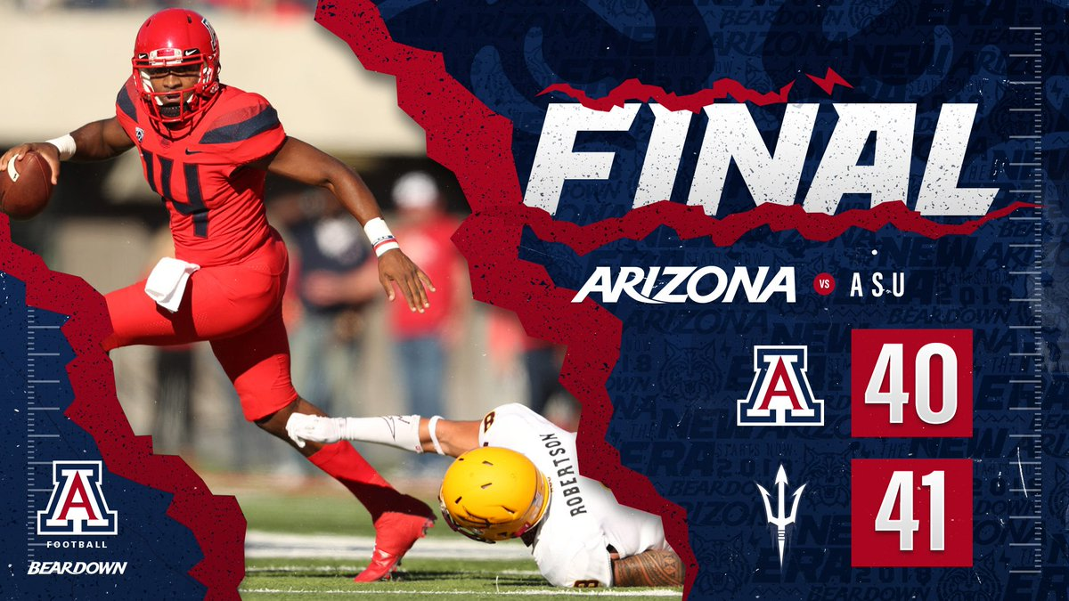 Uofa Football Score >> Arizona Football On Twitter Final Arizona State 41
